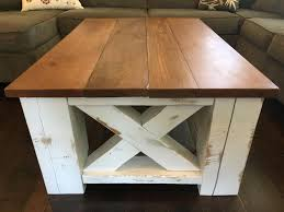 i made a farmhouse coffee table from scrap materials album on imgur