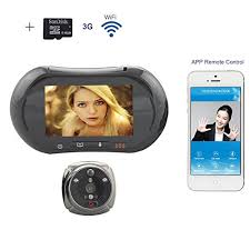 front door video camera wifi digital peephole door viewer u2013 willful 3 7 u2033 lcd touch screen
