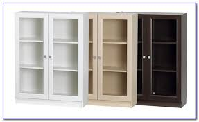 white low bookcase with doors bookcases home design ideas