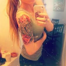 memorial roses tattoo on upper arm for girls photo 2 2017 real