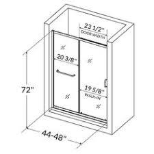 Shower Door Width 60 X 62 Bath Tub Door Brushed Nickel Finish Shower Doors