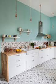 cuisine vert d eau décoration pastel