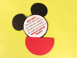 handmade mickey mouse birthday invitations alanarasbach com