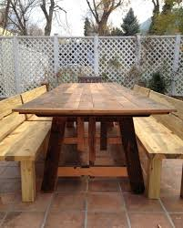 Boulder Outdoor Furniture by Custom Reclaimed Floorboard Beetlekill Dining Set Boulder