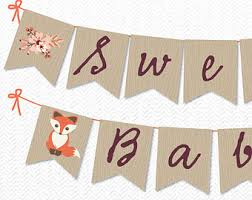 baby shower banner diy instant baby fox theme baby shower banner diy baby