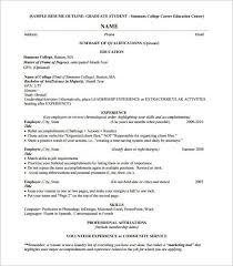 resume chronological order resume outline free resume outline template 13 free sample