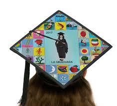 graduation cap toppers la graduada loteria graduation cap topper card stock canvas