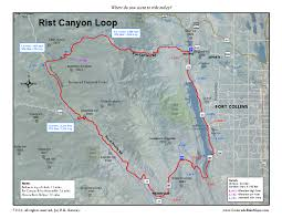 Fort Collins Colorado Map by Fort Collins Coloradobikemaps