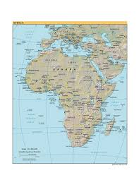 Africa Map by Various Maps Showing How Big Africa Is