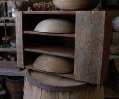 primitive wood bowl rack cupboard sweet liberty homestead