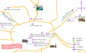 map of xi an xian tourism mapm