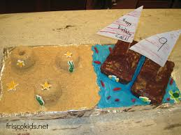 frisco kids sail boat and beach cake