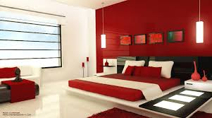 Red Bedrooms - White and red bedroom designs