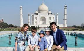 canadian prime minister justin trudeau with family in tow visits