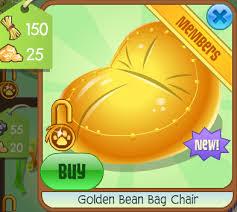 golden bean bag chair animal jam wiki fandom powered by wikia