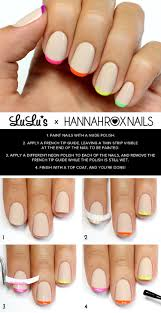 mani monday and neon french tips nail tutorial lulus com