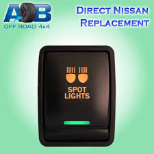 12v 3a nissan push switch led amber green on off switch for xtrail