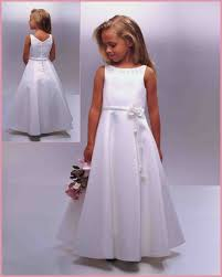 simple communion dresses absorbing white neckline flower girl dress weddings