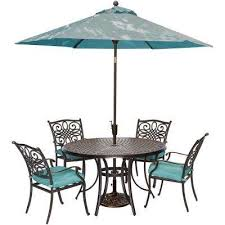 Outdoor Patio Dining Sets With Umbrella Blue Umbrella Patio Dining Furniture Patio Furniture The