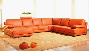 articles with modern grey sofa with chaise tag charming modern good looking orange leather sofas you must have charming ushaped
