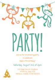 childrens party free printable birthday invitation template