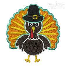 thanksgiving turkey embroidery design
