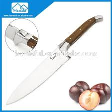 stainless steel laguiole chef knife with olive handle buy chef