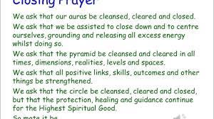 an exle closing prayer