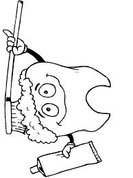coloring pages dental hygiene 5 znaki za sluz