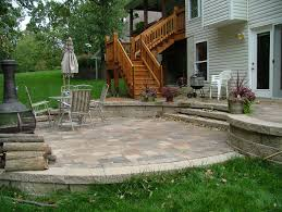 Small Paver Patio by Retaining Wall Steps Album 2