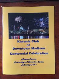 centennial celebration souvenir booklet downtown madison kiwanis international