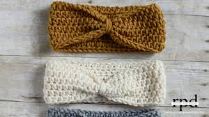 crochet hairband knotted headband crochet pattern rescued paw designs crochet