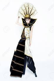 venetian costume beautiful golden venetian carnival masked woman sun costume