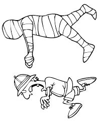 mummy coloring mummy chasing archaeologist