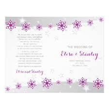 Modern Wedding Programs Bi Fold Wedding Programs Flyers U0026 Programs Zazzle