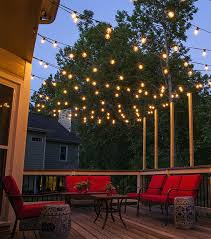 outdoor led patio string lights outdoor led patio string lights amazing hanging across a backyard