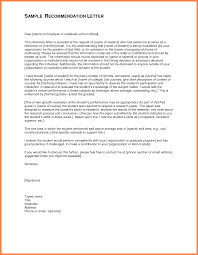 brilliant ideas of student recommendation letter examples on