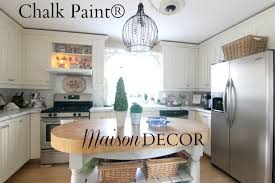 can you put chalk paint on kitchen cabinets maison decor painting kitchen cabinets with chalk paint by