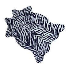 faux zebra rug ebay