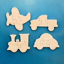 wooden party favors transportation birthday party favors wood puzzles for kids