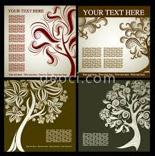 free book cover designs templates 4 vector trees silhouette with decorative patterns book cover