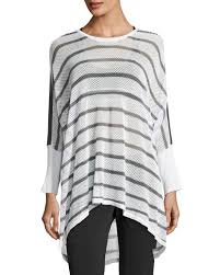 vince painted ombre knit sweater off white blue marine