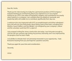 Residency Interview Thank You Letter Format Thank You Letter After Interview Accounting Clerk Cover Letter