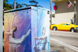 think outside the box ventura s streetscape mural project ventura utility box art 2