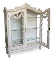 Ornate Display Cabinets Helene French Corner Display Cabinet Ivory Corner Display
