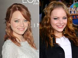 emma stone natural hair pictures blonde celebrities who hide their natural hair color