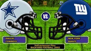 game 1 season opener of backyard football 2002 dallas cowboys
