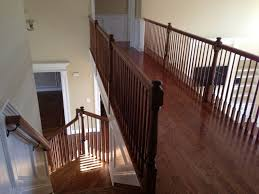 Sanding Banister Hardwood Floor Railing Installation Monmouth County Nj Melo Floors