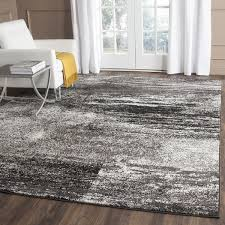 Modern Abstract Rugs Safavieh Adirondack Modern Abstract Silver Black Rug 8 X 10