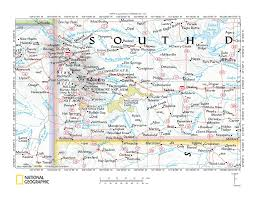 Map Of Sd Cheyenne River White River Drainage Divide Area Landform Origins